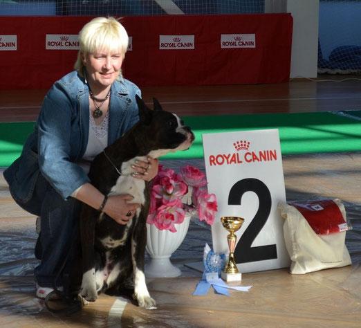 ПРИЗЕР БЕСТ ГРУПП 2 место, на выставке собак всех пород 19 мая 2013г в г.Екатеринбург