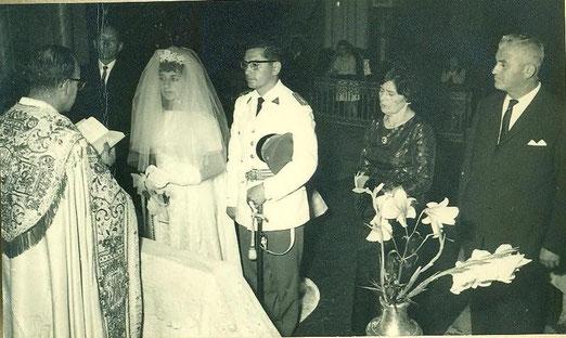 Srta. Lucyna Yáñez Olave el día de su matrimonio con don José P. Soto.