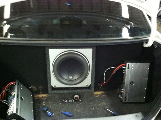 Nissan Sentra Amp and Box Install