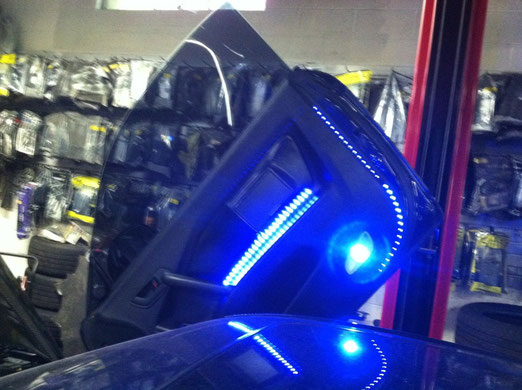 2008 Hyundai Tiburon Custom LED and TV screen
