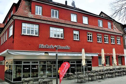Das Gebäude der damaligen Filiale in der Neckarsteige 4, Nürtingen, im Jahr 2020. Foto: Anne Schaude