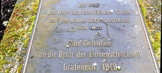 Gedenkplatte auf dem Friedhof von Grafeneck, Foto: Anne Schaude, Nürtingen