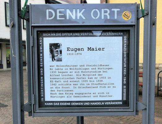 Gedenken an Eugen Maier, DenkOrt Nürtingen