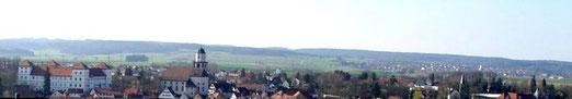 Meßkirch, hinten rechts liegt Rohrdorf, Foto: Zollernalb, Lizenz: Creative Commons Attribution-Share Alike 3.0 Unported