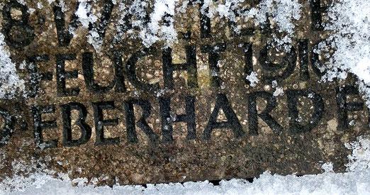 Erinnerung an Eberhard F. auf dem Mahnmal in Mariaberg, Foto: Anne Schaude, Nürtingen