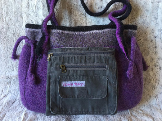Filztasche Design: Lavendel
