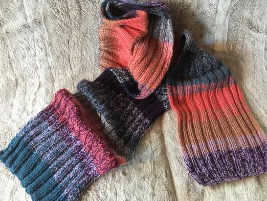 Schal aus Alpaca Wolle, reines Naturgarn