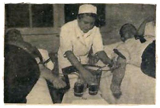 La Donación y Transfusión Sanguinea, Francia, Diciembre de 1955.