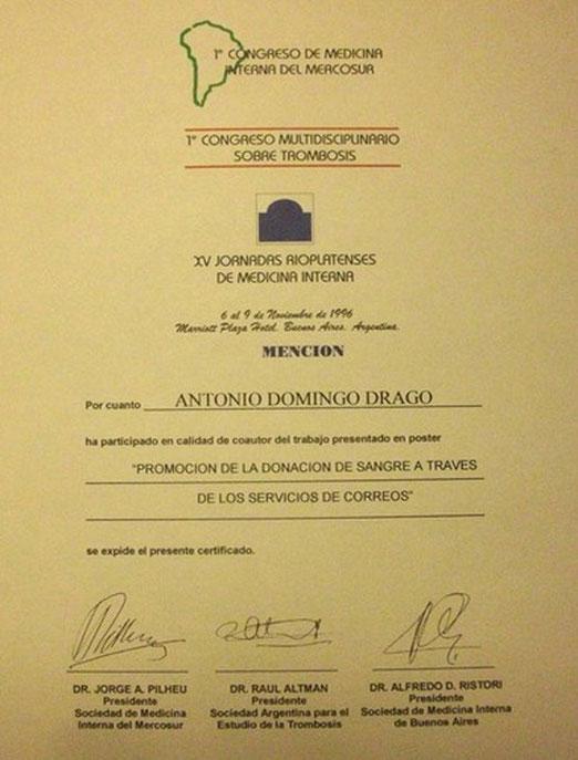 Premio: Mención especial 1996.