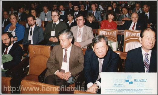 XXII Congreso de la Sociedad Internacional de Transfusión Sanguinea. Octubre de 1992.