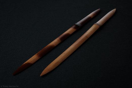 煤竹ペーパーナイフは一点ずつ大きく異なる景色です