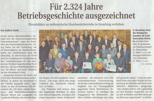 aus der Deutsche Handwerkszeitung 7.11.2014
