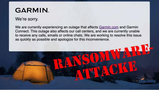 Bildquelle: https://www.heise.de/news/Garmin-Connect-Ausfall-nach-Ransomware-Attacke-4851576.html