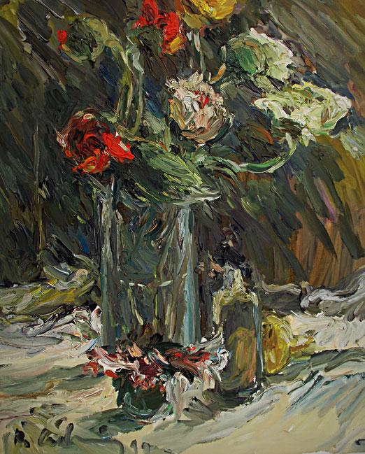Mohnstrauß   1999, Öl auf LW, 46 cm x 55 cm