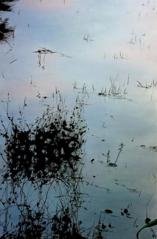 "Untitled, oil on canvas, 36""x24""/韻,布面油畫,92x61cm, 2014"