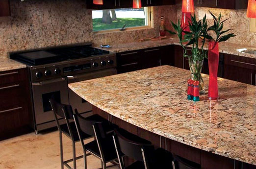 Crema Bordeaux Granite a beautiful option for homes in Bellevue, Kent, Renton, or Tacoma