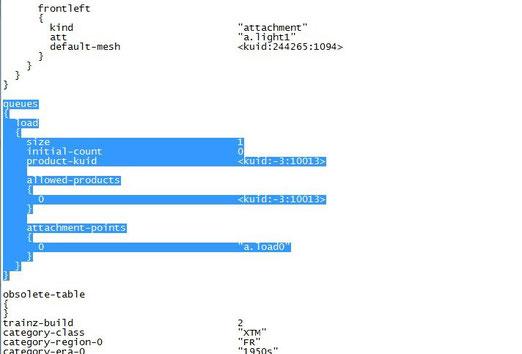 """ce screen montre la partie du texte du fichier """"config"""" à changer"""