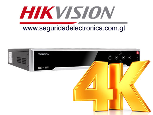 nvr's 32 canales hikvision 4k 7716NI-I4