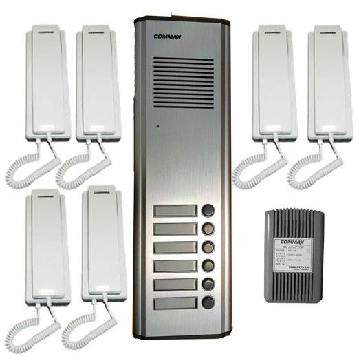 intercomunicador commax 6