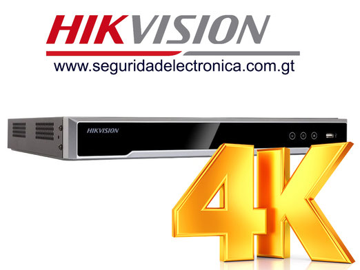 NVR'S 8 canales 4K Hikvision 7608NI-I2