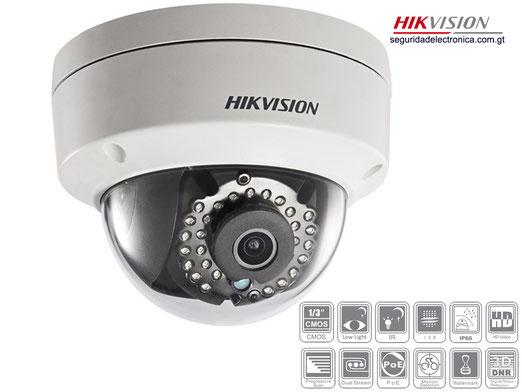 Camra Hikvision Ip Mini domo IP con IR 30m. ONVIF, WDR 120dB. 4 megapixeles Guatemala