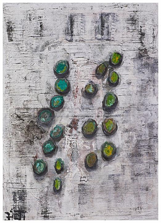"""Gems""; Acryl auf Leinwand; 60 x 80 cm"