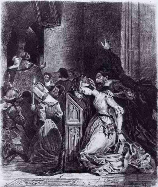 Маргарита в церкви. 1828