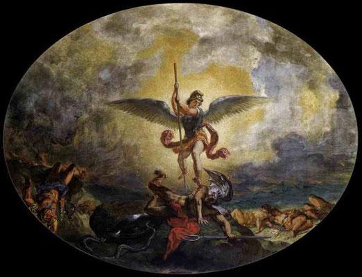 Святой Михаил побеждает дьявола. 1854-61