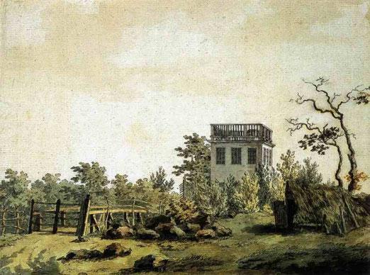 Пейзаж с павильоном. 1797