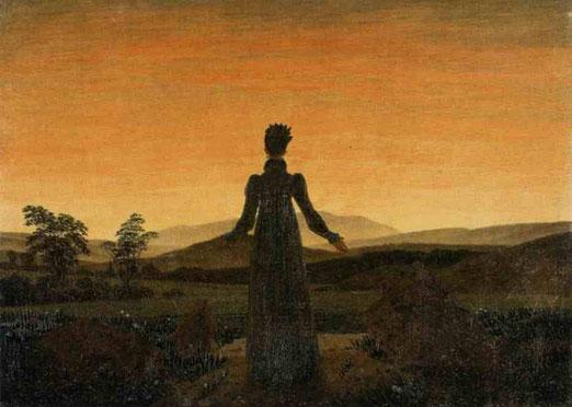 Женщина перед восходящем солнцем. 1818-20