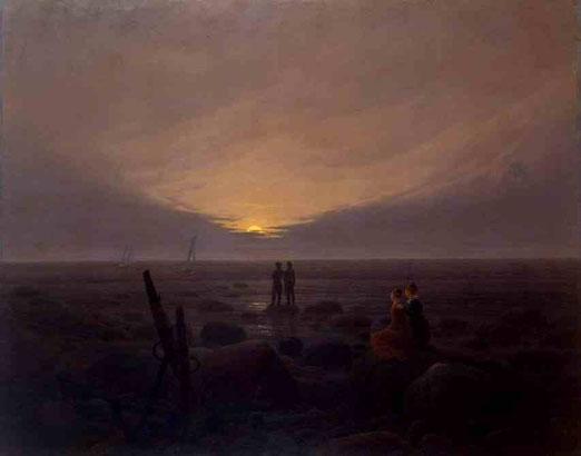 Восход луны на море. 1821