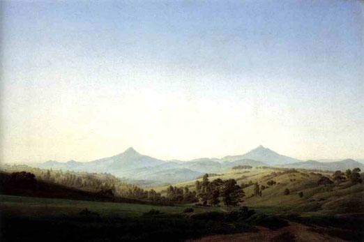Чешский пейзаж с горой Миддешауер. 1808