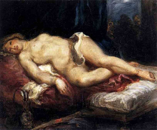 Одалиска лежа на диване. 1827-28