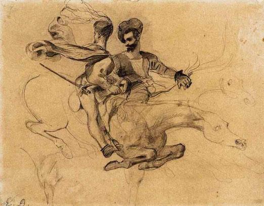 Иллюстрация к Фаусту Гёте. 1825-27