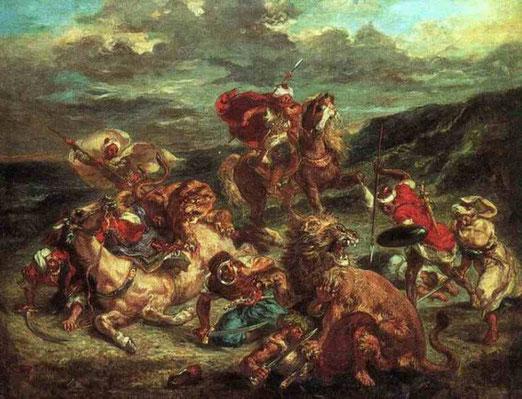 Львиная охота. 1861
