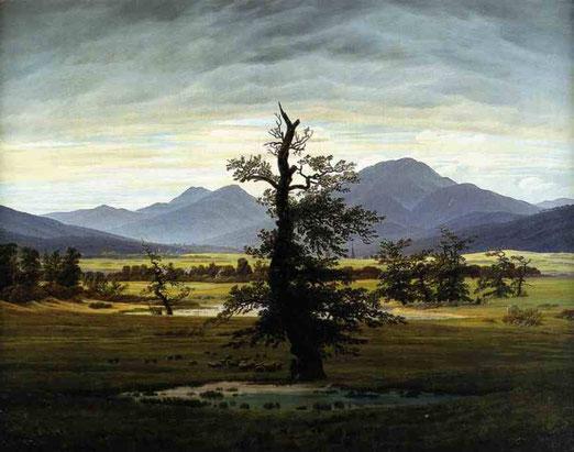 Пейзаж с деревом в утреннем свете. 1822