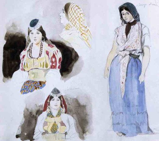 Марокканские женщины. 1832