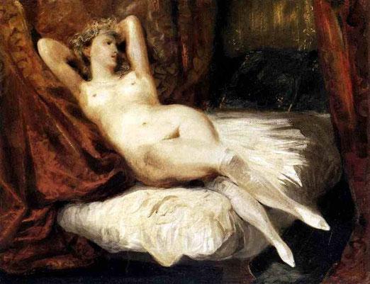Обнажённая, лежащая на диване. 1825-26