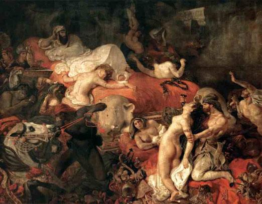 Смерть Сарданапала. 1827