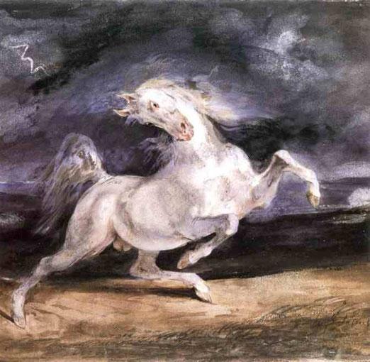 Лошадь напуганная штормом. 1824