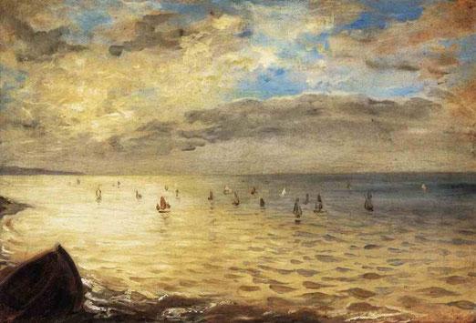 Море с высоты Дьепп 1852