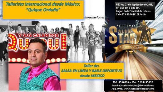 TERCER TALLER INTERNACIONAL - SALSA EN LINEA Y BAILE DEPORTIVO  - DESDE MEXICO - SALSA STAR 2018.