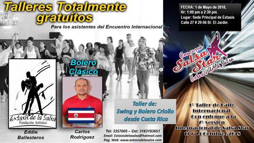 PRIMER TALLER INTERNACIONAL - BOLERO CRIOLLO - DESDE COSTA RICA - SALSA STAR 2018.