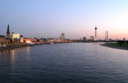 Skyline Düsseldorf am Rhein