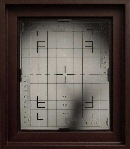 DEARDORFF, tirage argentique 18 x 22 cm contrecollé verre, montage sous griffes en caisse américaine