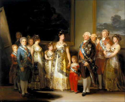 Портрет семьи Карла IV - самые известные картины Франсиско Гойи