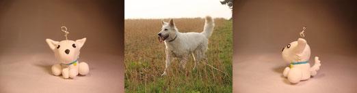 """Katis Weißer Schäferhund... eine Multifunktionsfigur für entweder """"Heaven"""" oder """"Lennox"""" - passt beides! ;)"""