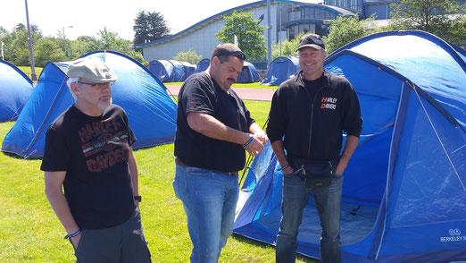 Camping Freunde auf Isle of Man