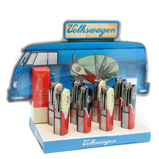 VW Taschenmesser Bulli T1 Frontansicht, VW Multi Funktionsmesser 10 Funktion