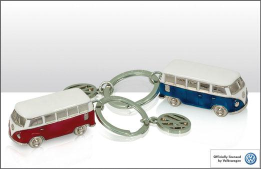 VW Bulli Schlüsselanhänger 3D aus Metall